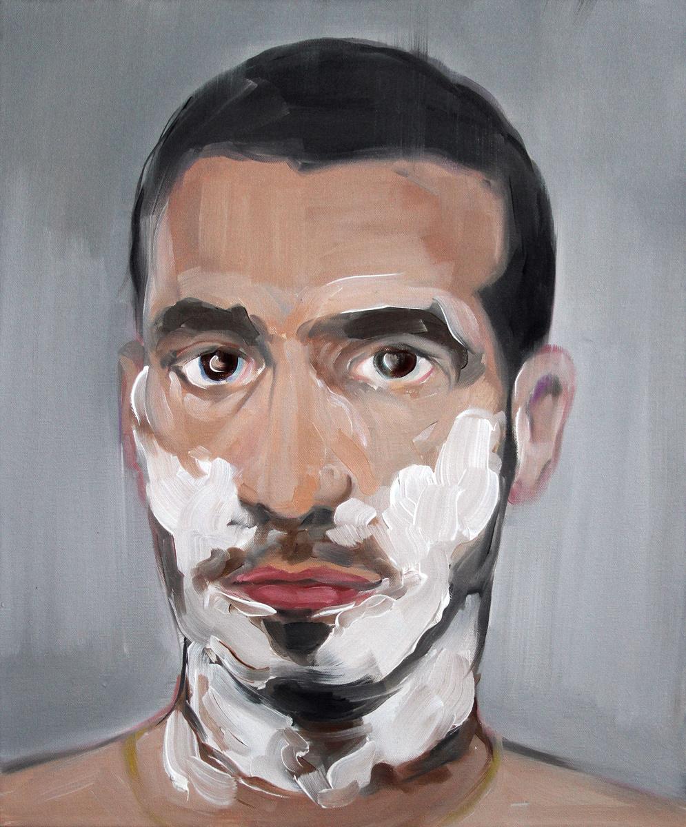 Self Portrait with Shaving Foam