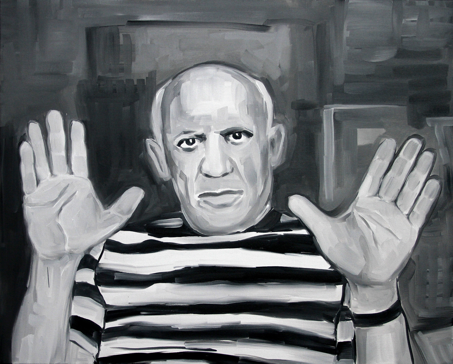 Picasso Lifting Hands (Full)