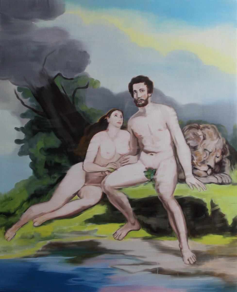 Untitled (Adam and Eve and Lion)