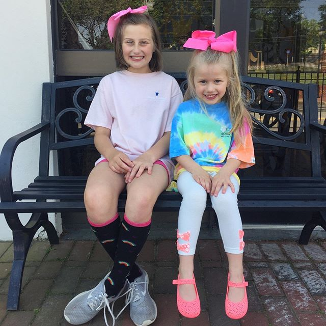 These girls look so cute in our bows and Simple Southern tees! 👭Come check out our bow room ~ We have over 3,000 bows! 🎀 We are open 10-6.