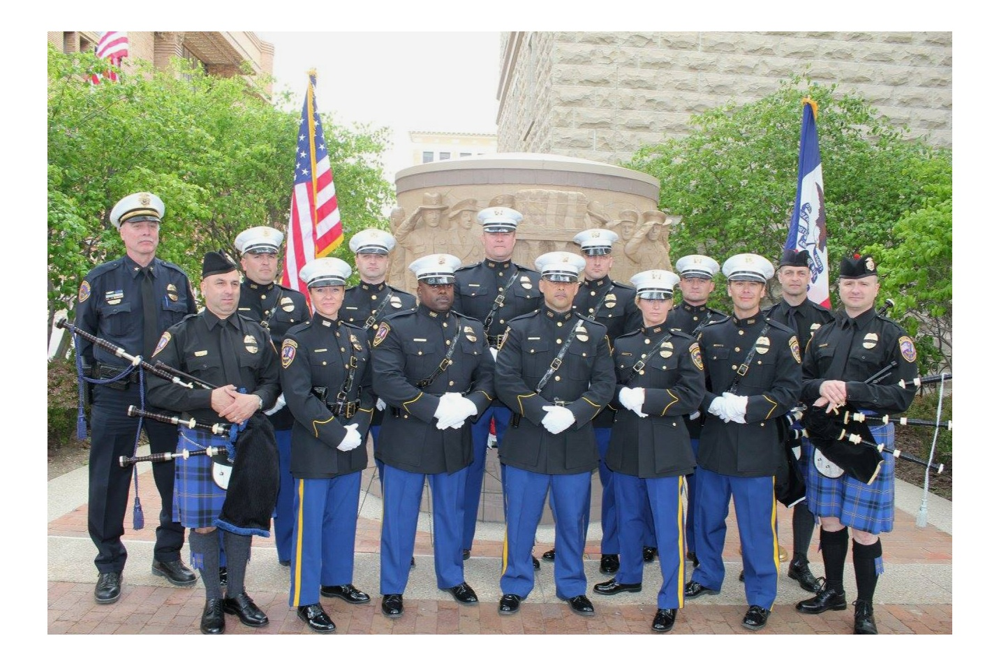 Copy of Honor Guard and Bagpipers