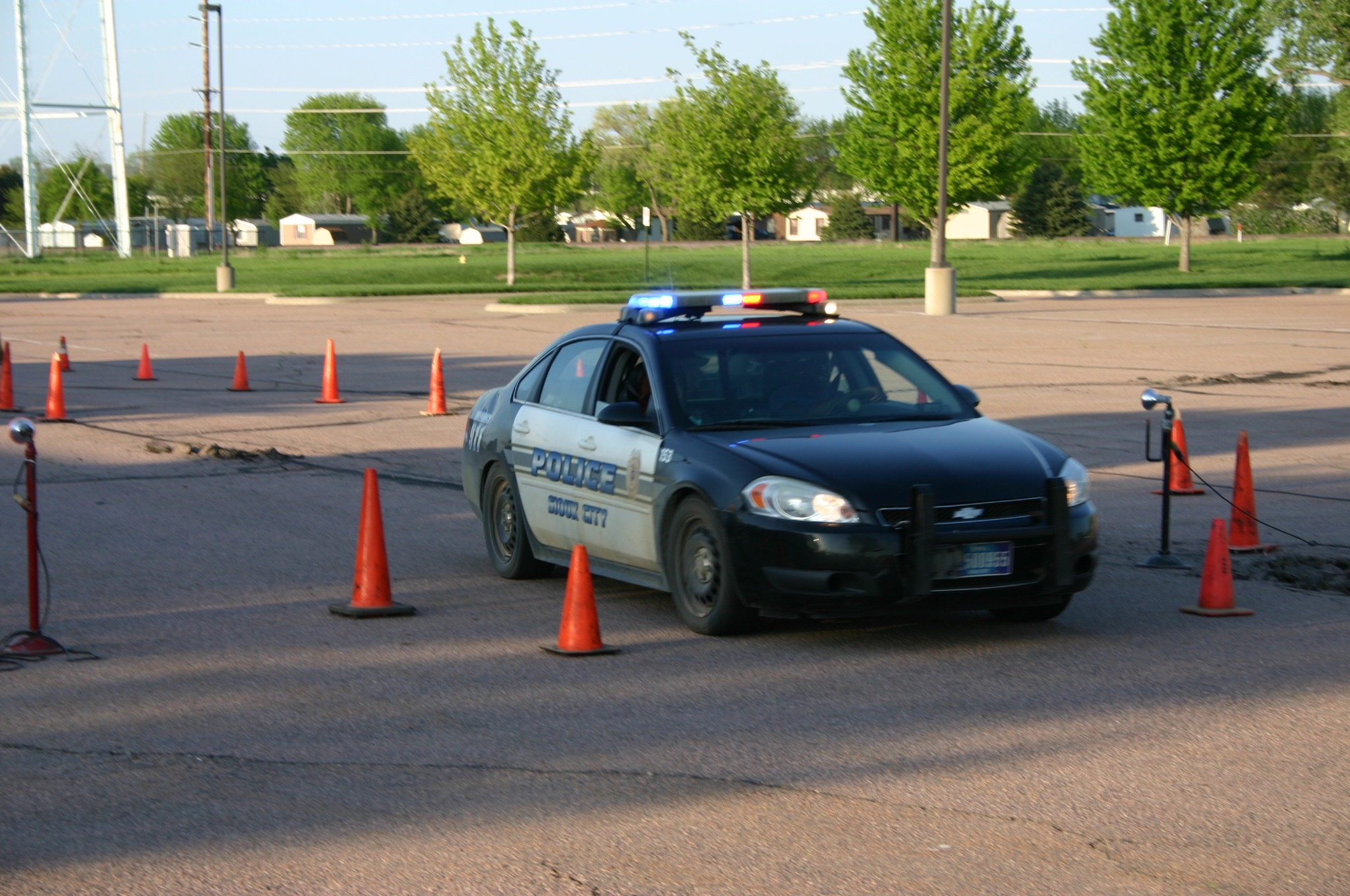 Learning how to react quickly in a car helps keep officers safe while responding to emergencies.