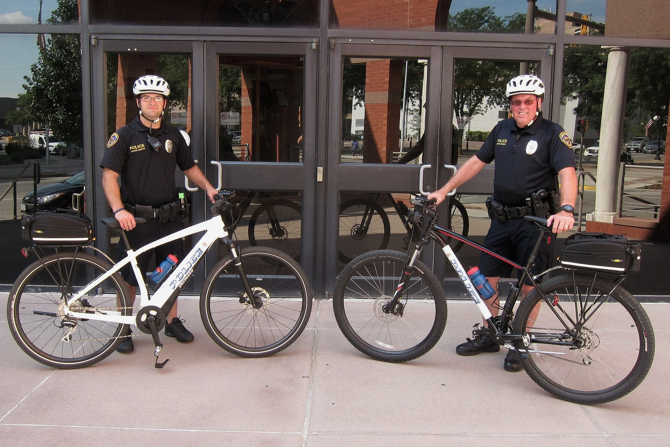 In August of 2019, the Sioux City Police Department started the bike patrols in an effort to get officers out of cars and closer to the community. Officers Jeff Demetri and Shawn Robinson are two of the officers trained for bike patrol.