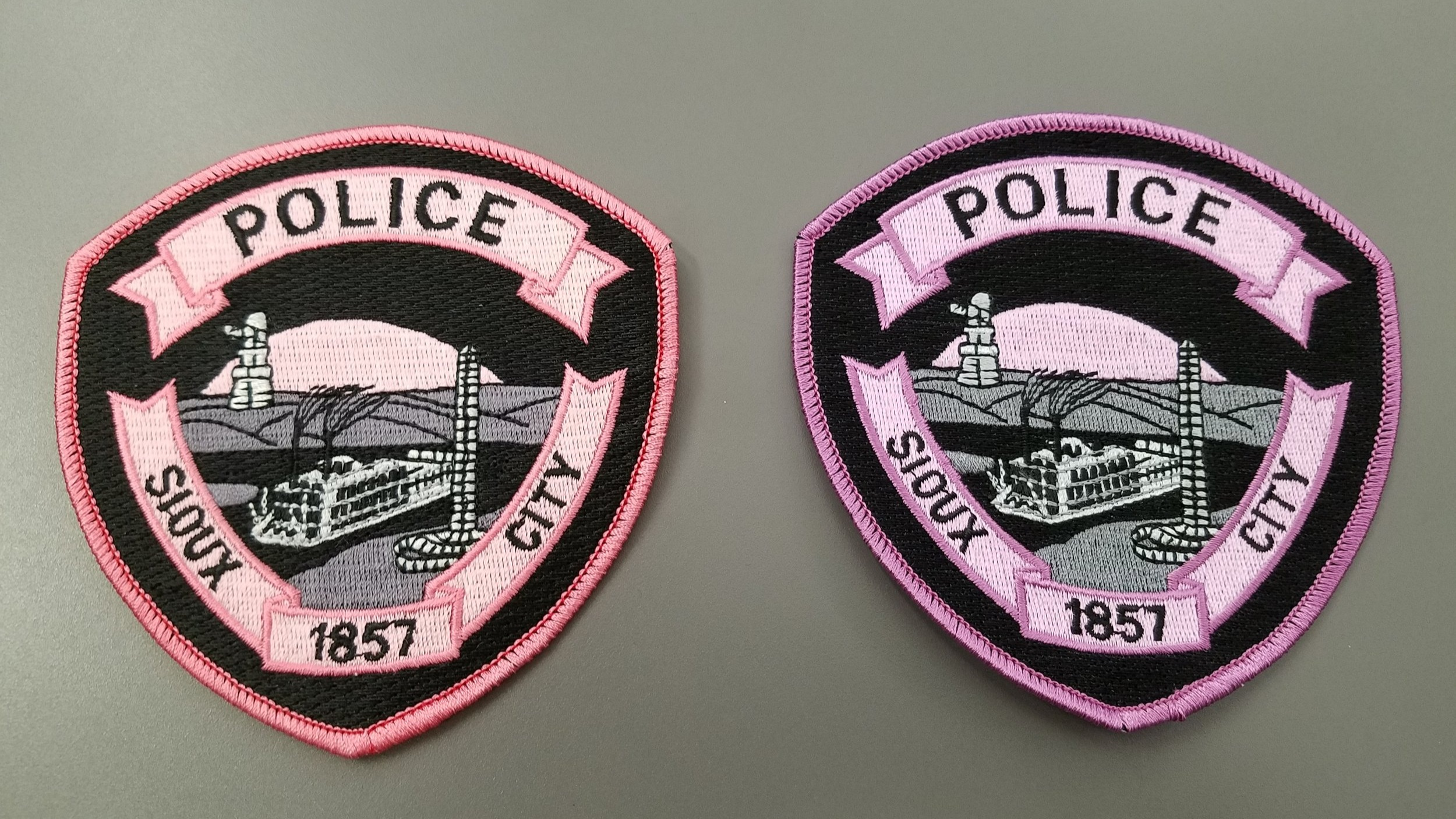 There is a light pink (left) and dark pink (right) version of the patch