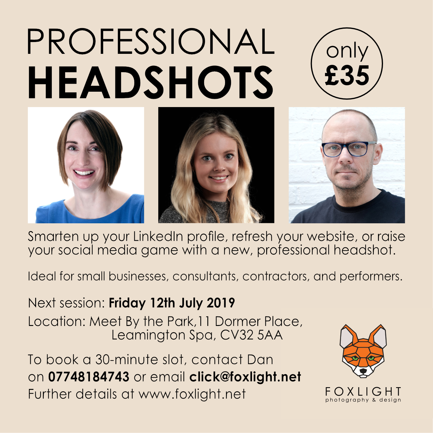 Leamington Spa Headshot photographer Warwickshire special offer promo.jpg