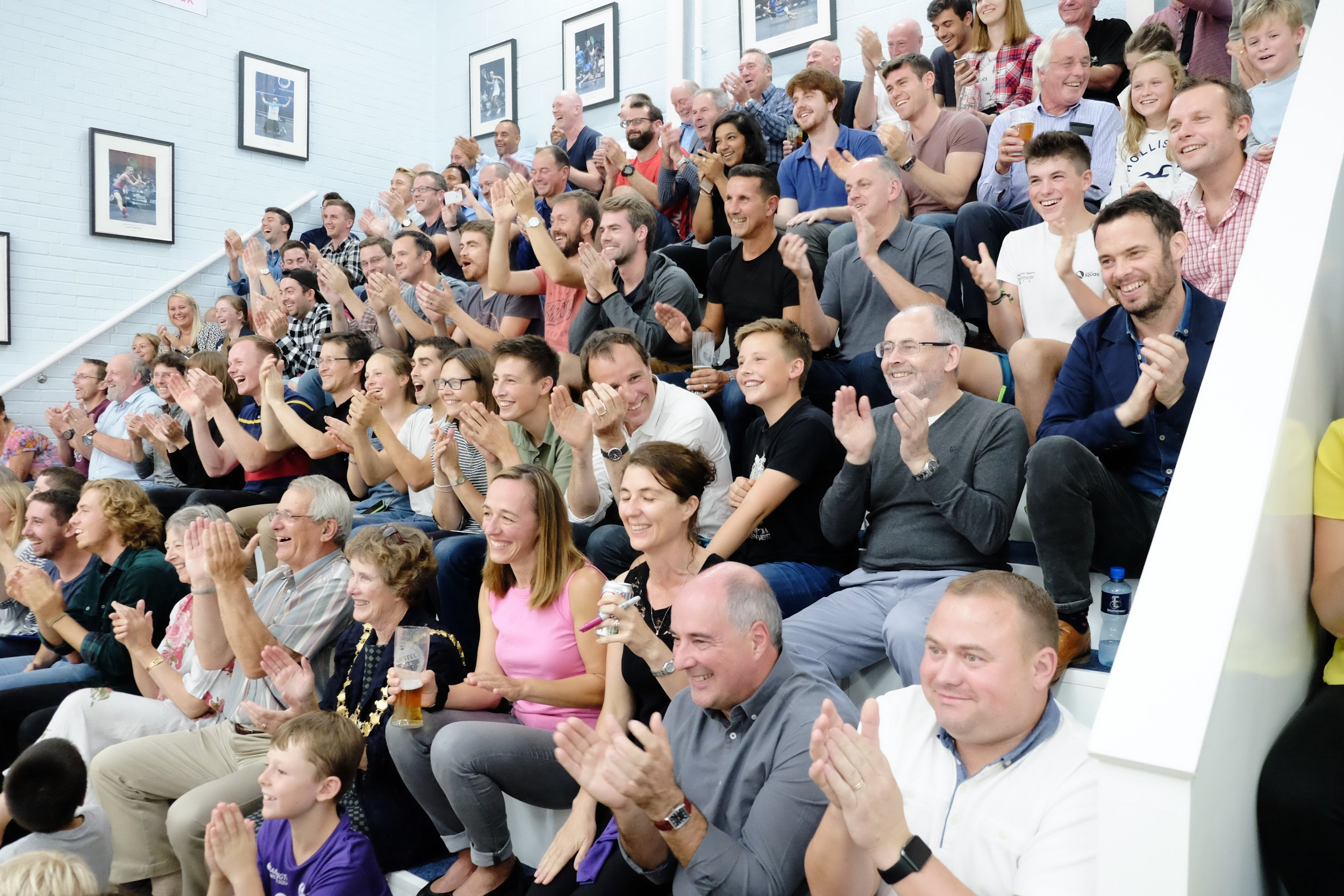 Leamington Spa Event photographer - sports event photography squash crowd scene warwickshire.JPG