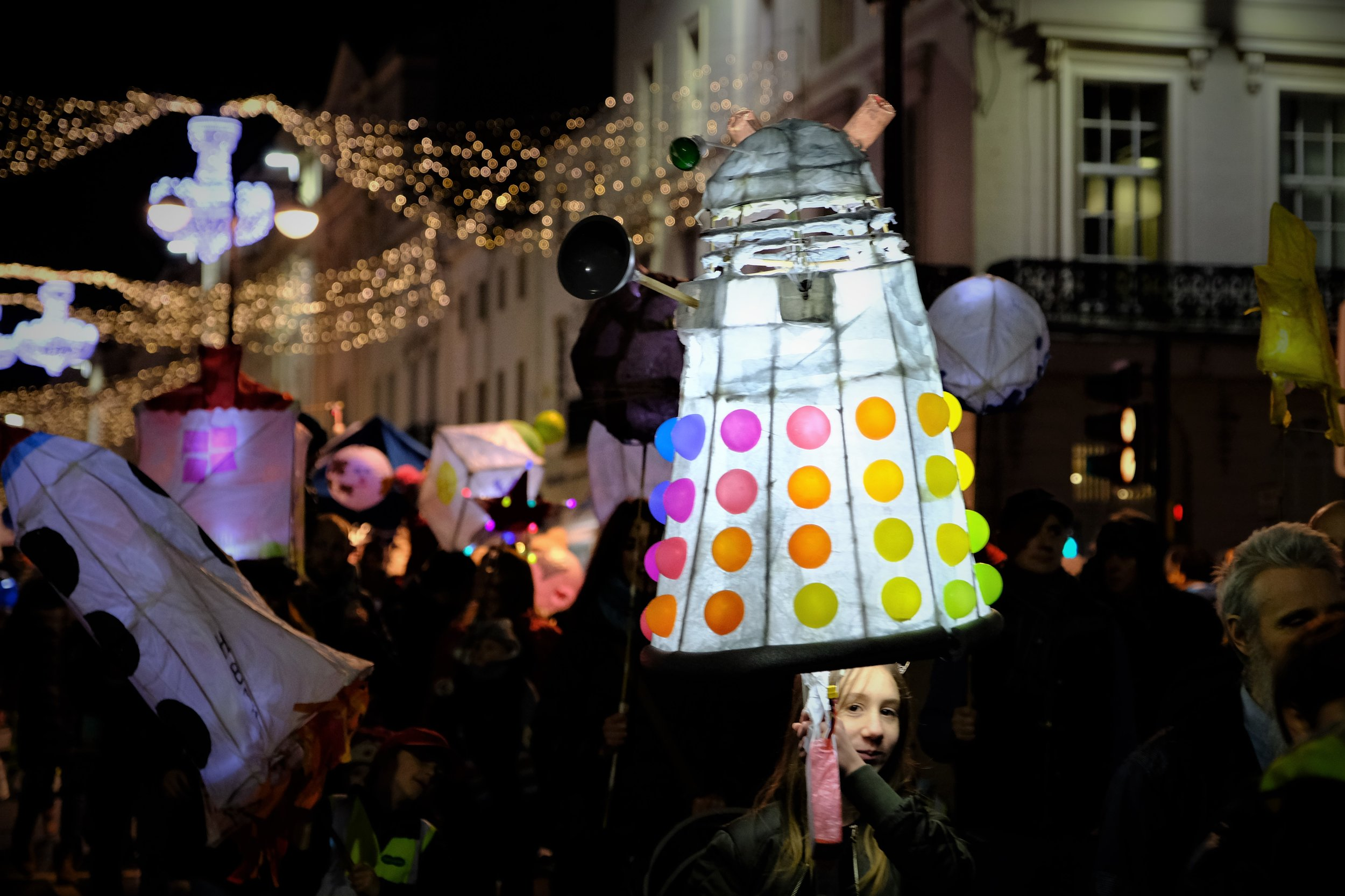 Leamington Spa Event photographer - town carnival leamington lantern parade dalek warwickshire.JPG