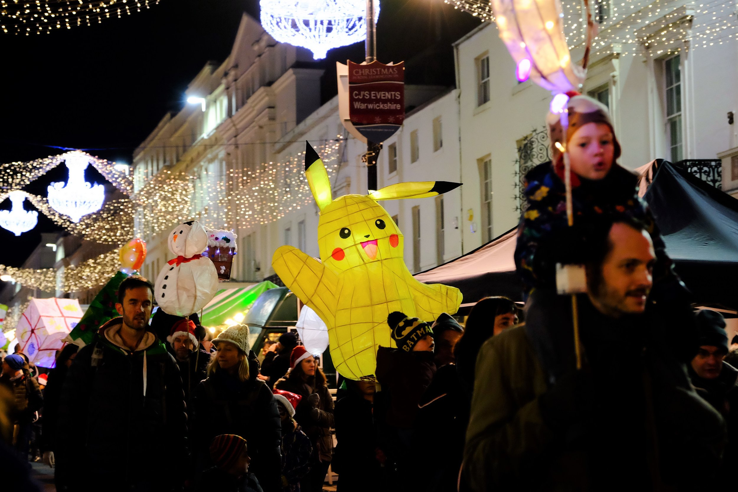 Leamington Spa Event photographer - town carnival leamington lantern parade pikachu warwickshire.JPG