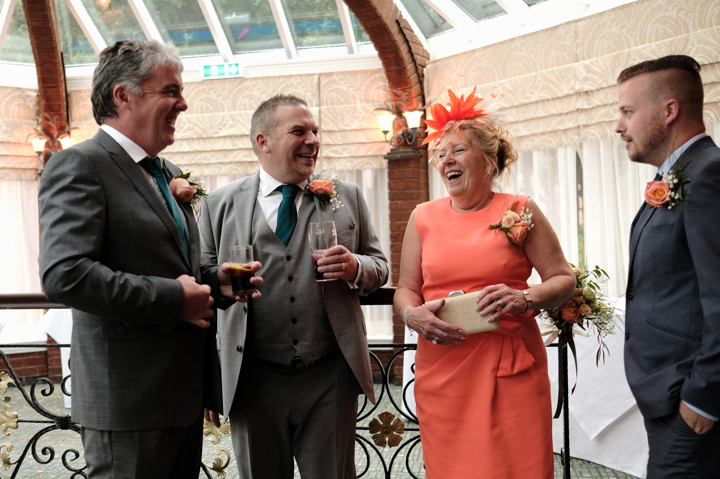 Warwickshire Wedding Photographer Ardencote Manor House 20 - waiting for guests at reception.jpg