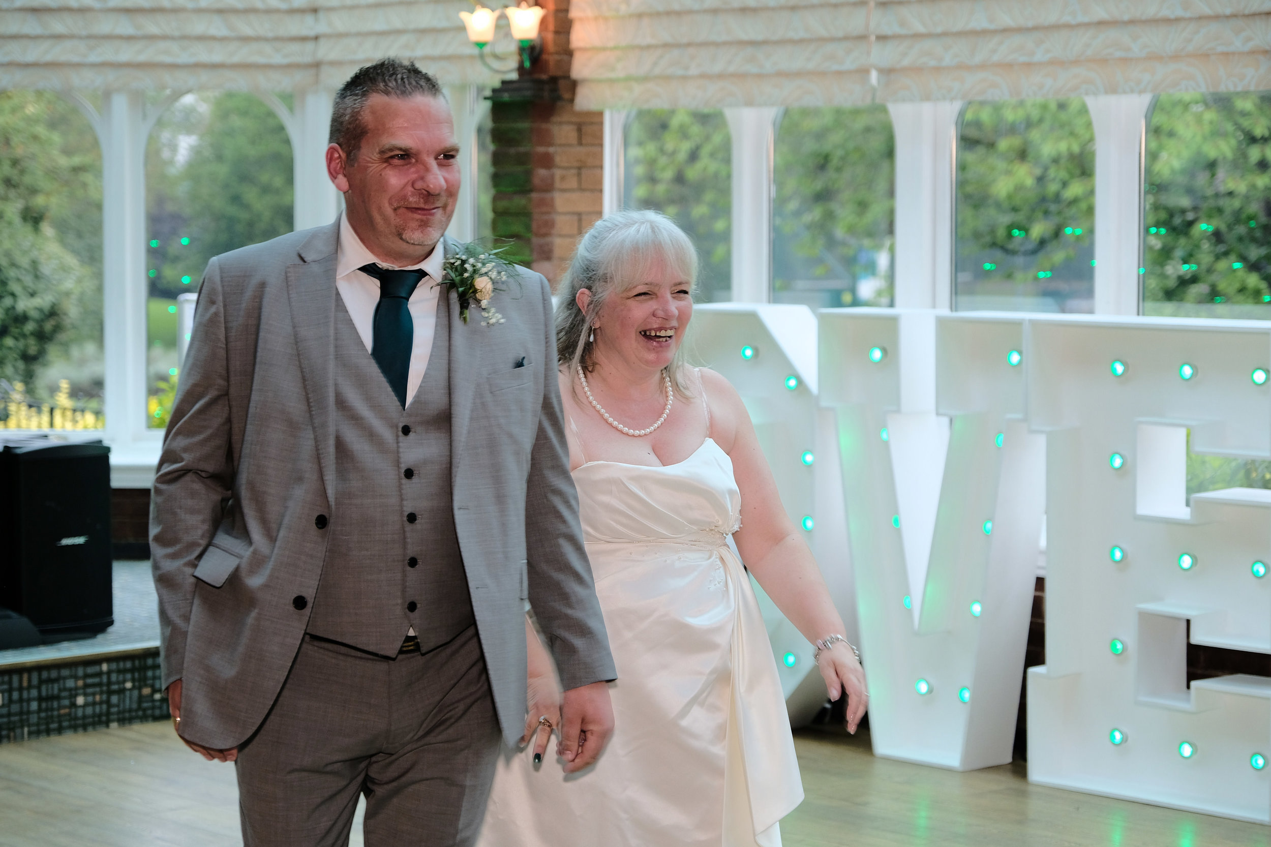 Warwickshire Wedding Photographer Ardencote Manor House 34 - happy couple after the first dance.jpg