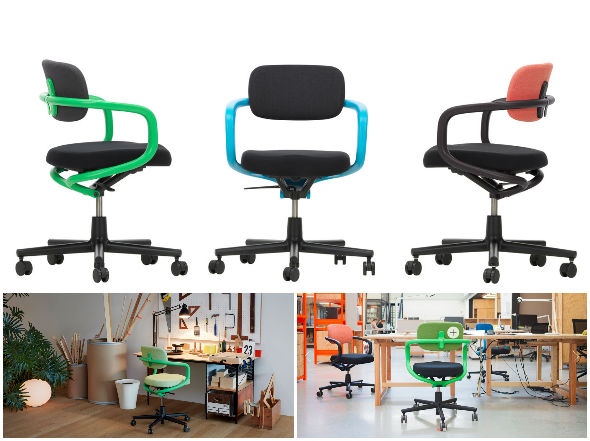 ALLSTAR - KONSTANTIN GRCIC, 2014  THE ALLSTAR OFFICE CHAIR BY KONSTANTIN GRCIC SATISFIES ALL THE NECESSARY FUNCTIONS OF A TASK CHAIR, ALLOWING IT TO BE USED WHEREVER HIGH FUNCTIONAL PERFORMANCE IS DESIRED BUT A CLASSIC OFFICE CHAIR WOULD NOT BE APPROPRIATE FOR AESTHETIC REASONS – AN ESPECIALLY IDEAL CHOICE FOR MODERN WORKPLACE CONCEPTS.