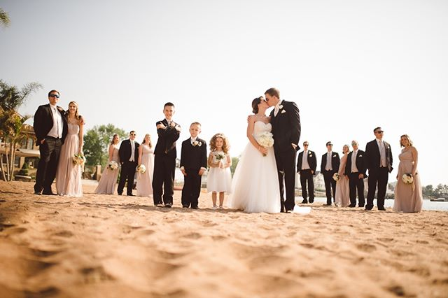 Out on the beach at Anthony's Ocean View Fine Catering. Unexpectedly Beautiful, Unexpectedly Affordable #ctweddingphotography #ctweddings #affordablephotography #anthonysoceanview