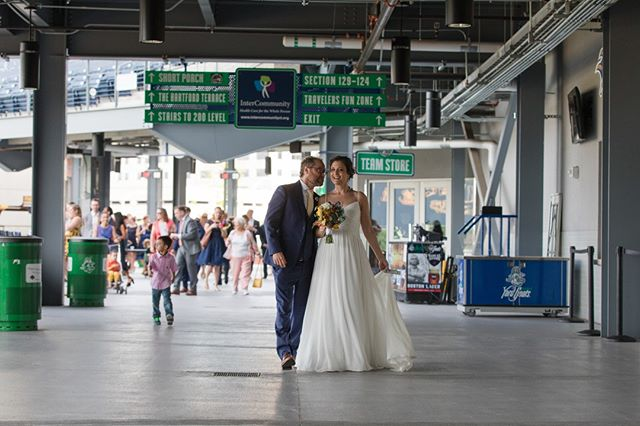 Dnd Stadium, home of the Yard Goats! Unexpectedly Beautiful, Unexpectedly Affordable #ctweddingphotography #ctweddings #affordablephotography #yardgoats #hartfordyardgoats #yardgoatswedding
