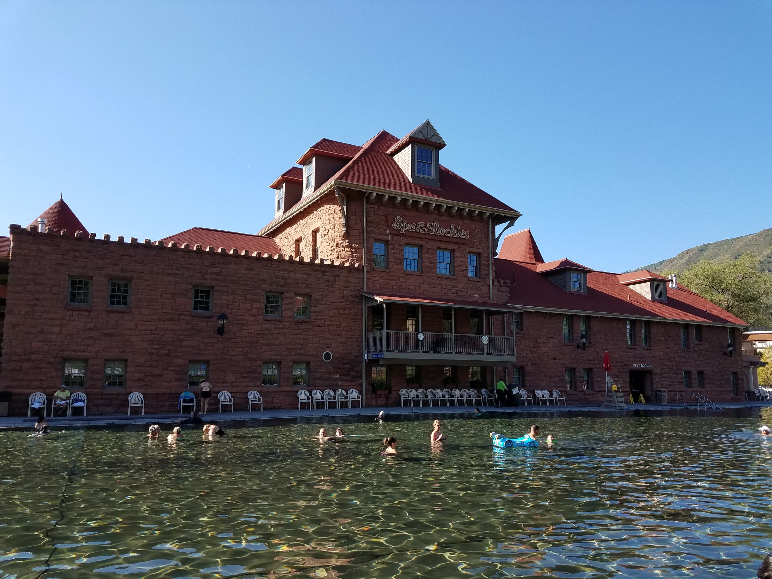 Glenwood Hot Springs Pool  - the world's largest hot spring pool with 15 minerals to re-energize and renew tired muscles.