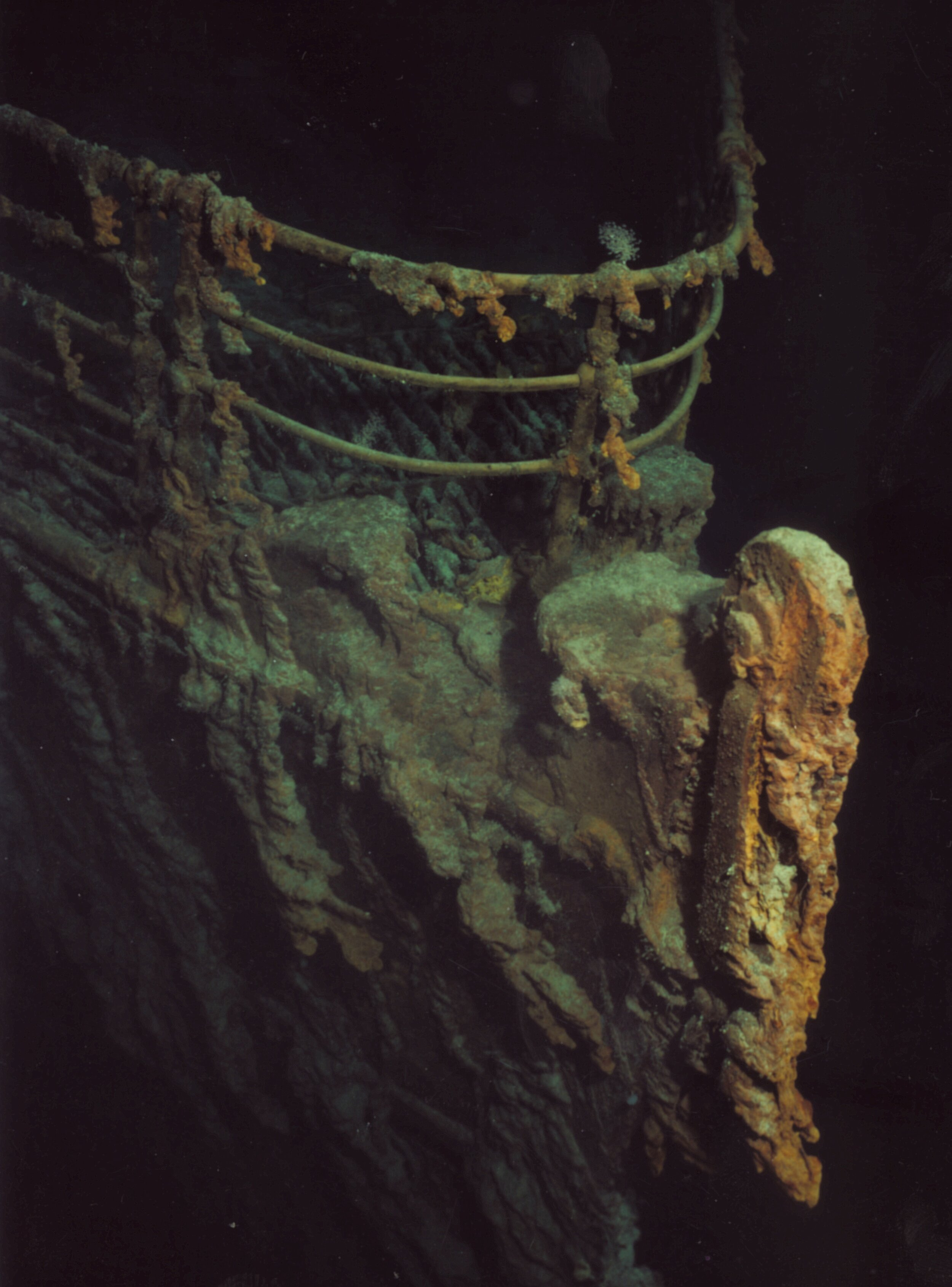 Image of the Titanic's wreck, from NOAA