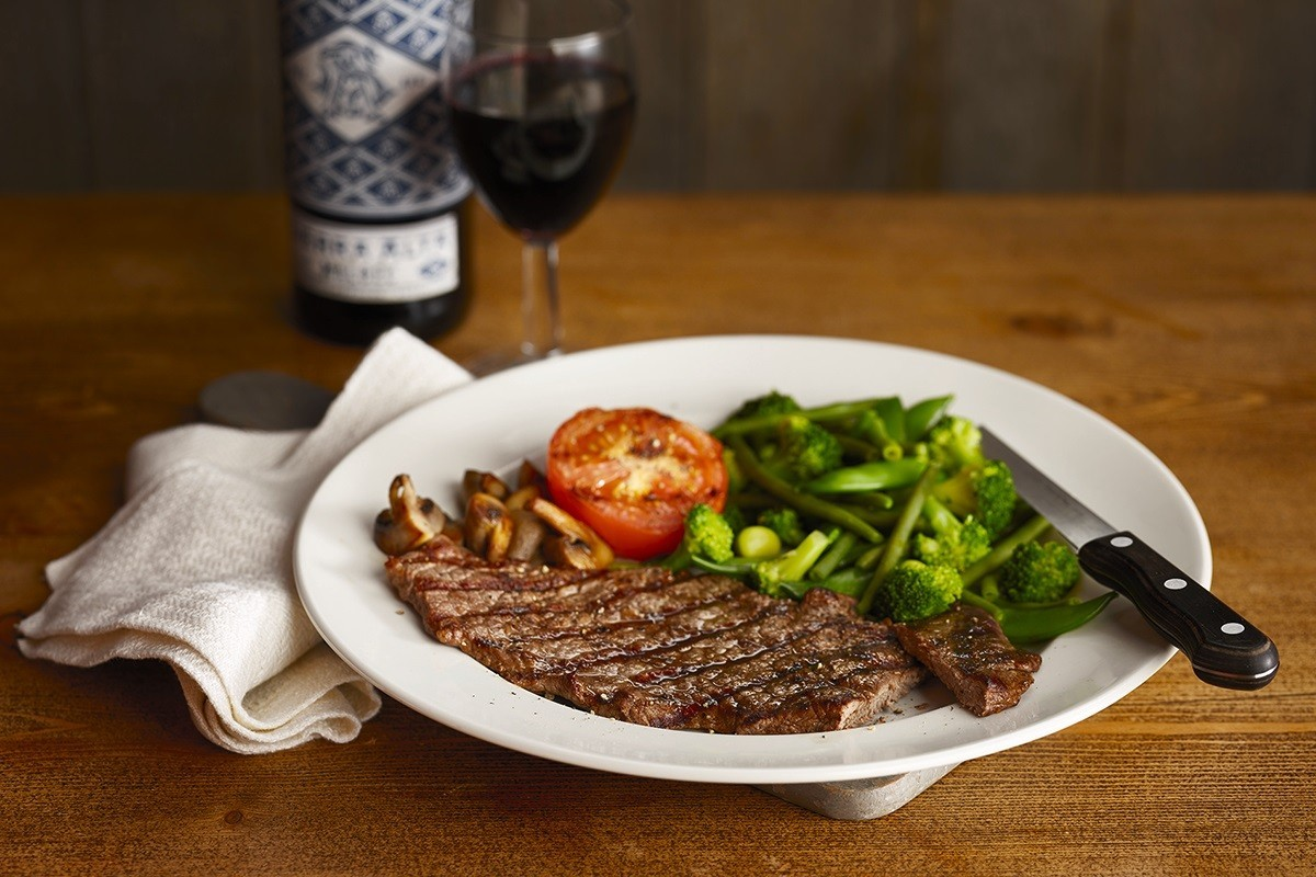 Meal and bottle of wine at Oasthouse Derby -