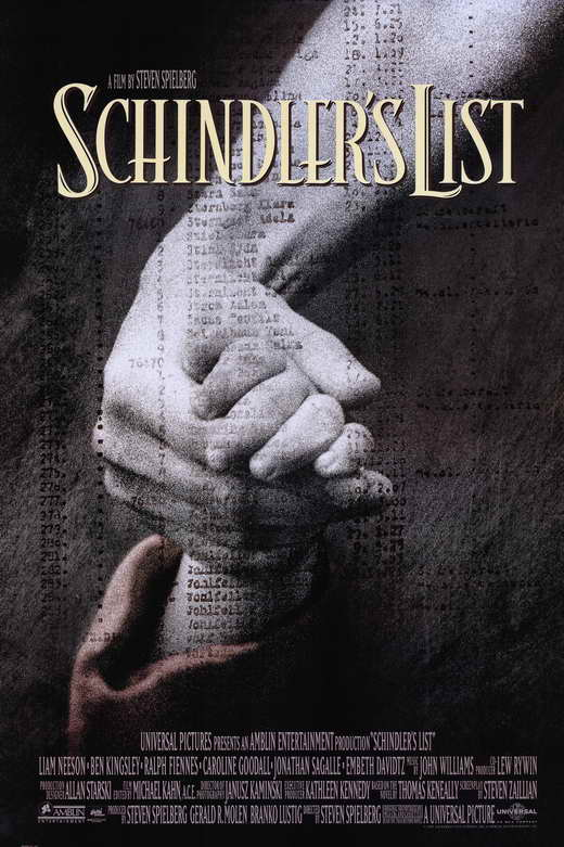 Schindler's List - Frequently listed as one of the best films of all time and the winner of seven Oscars. Filmed in black and white in Poland, it tells the true story of Oskar Schindler, who in World War II saved the lives of over one thousand Jewish refugees by employing them in his factory.