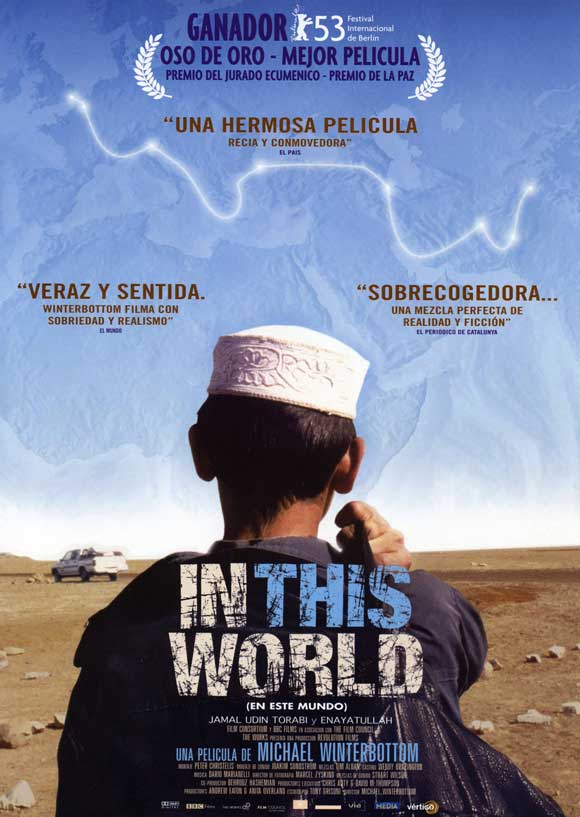 In This World - The fictional story of two Afghans fleeing their home in Pakistan and attempting to travel to London. This film tells their story over thousands of miles, crossing various borders, and using multiple forms of transport. One of the opening scenes is of a father paying for his son to be transported overland to live in a foreign land. I could never imagine being in that situation, but it is a reality for many.
