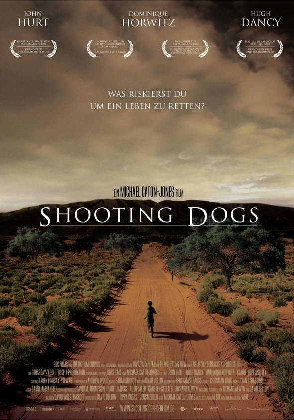 Shooting Dogs - The title of the film comes from the fact that in Rwanda UN peacekeepers were not authorised to use their weapons to protect people from violence. Instead they were only allowed to shoot stray dogs who fed on dead bodies.  Filmed on location with many genocide survivors in acting roles and on the film crew.