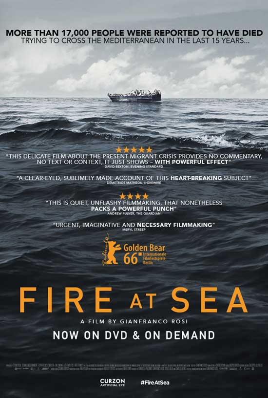 Fire at Sea - This documentary constantly switches between residents of Lampedusa and those who are trying to get there by boat. I was struck by the enormous gulf between the problems of the twelve-year-old boy who lives on the island and those who are seeking safe refuge. It's (deliberately) a painfully slow film. I looked away from the reality that the camera was recording before the camera did.