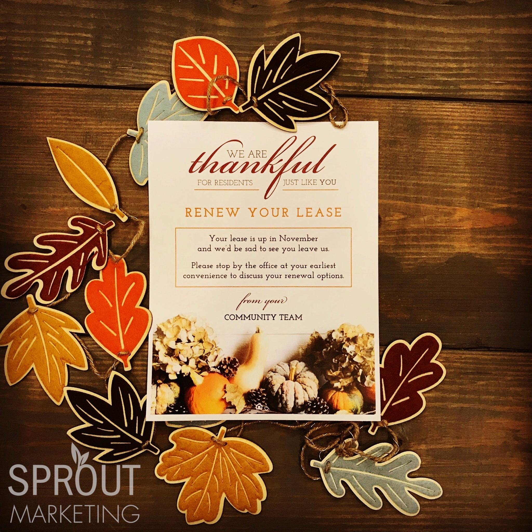 Apartment Renewal Letter - Thankful