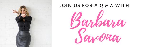 Q & A with Barbara Savona