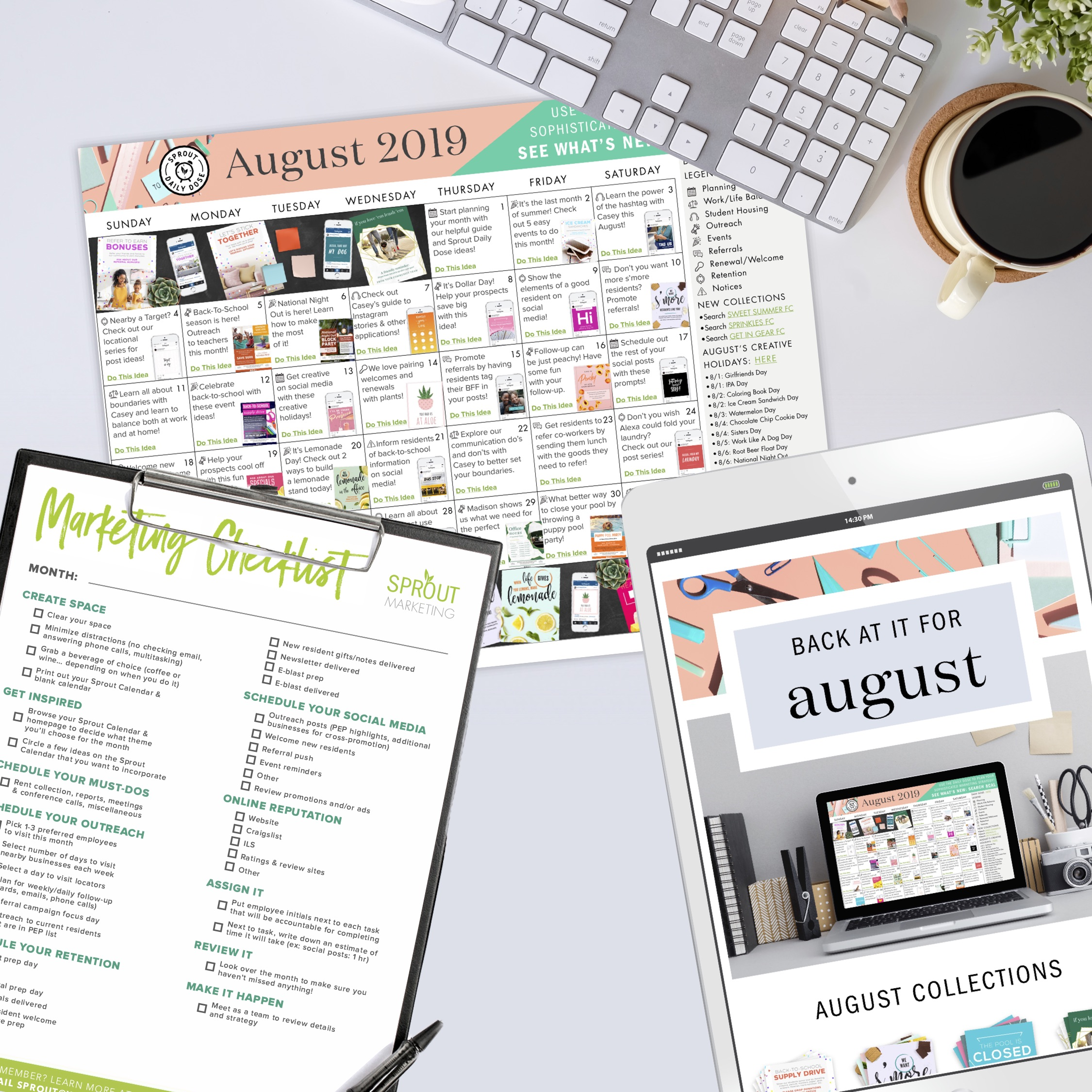 Download Your August Marketing Calendar Here