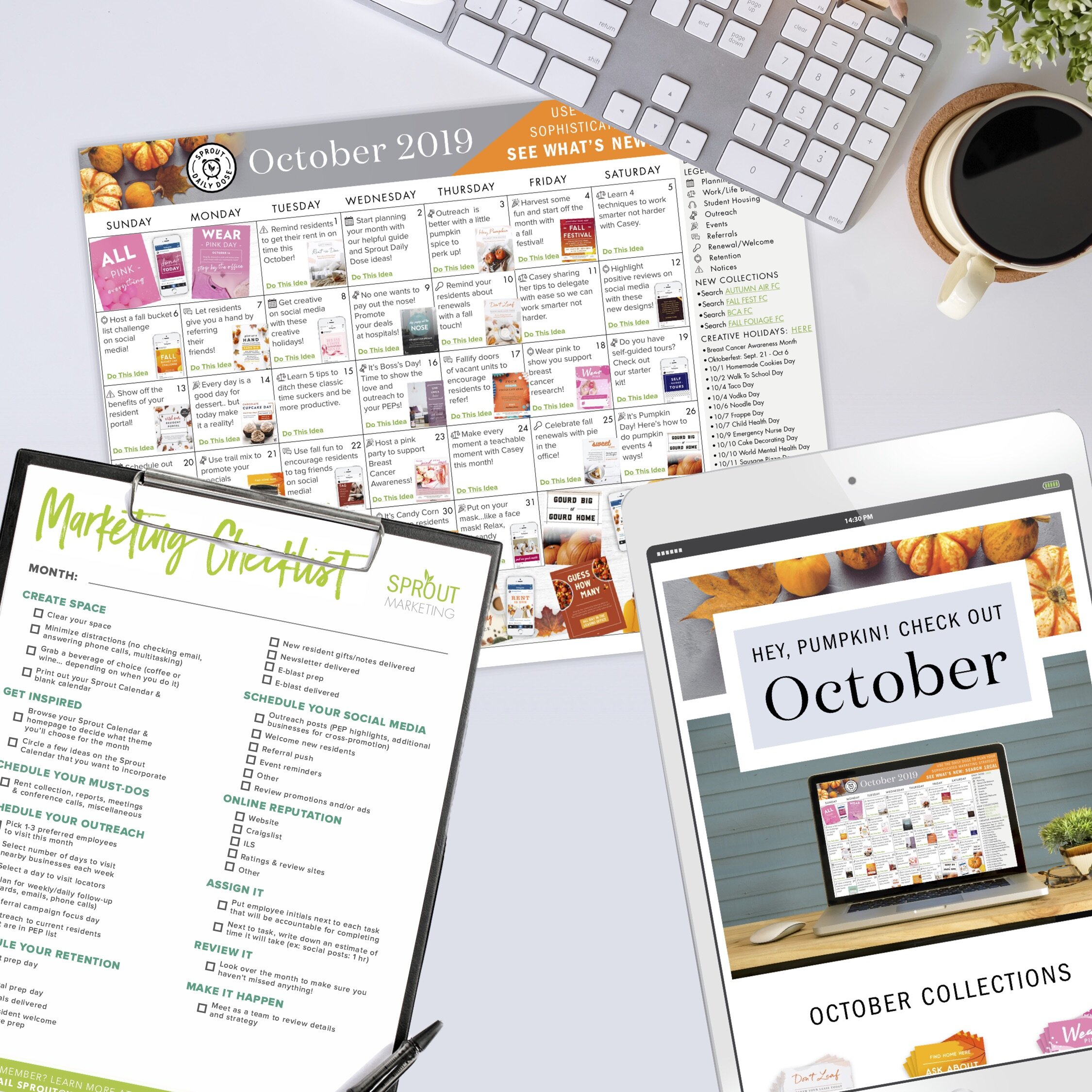 Calendar Kit - *The Sprout Paid-Member calendar has live links to immediately download resources.