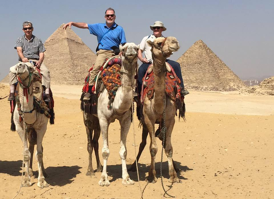 Otto Cuyler, on excursion while working on a consulting assignment in Egypt