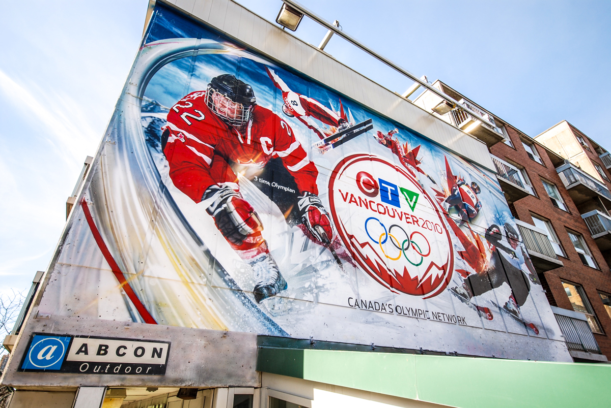 Painted mural for olympics