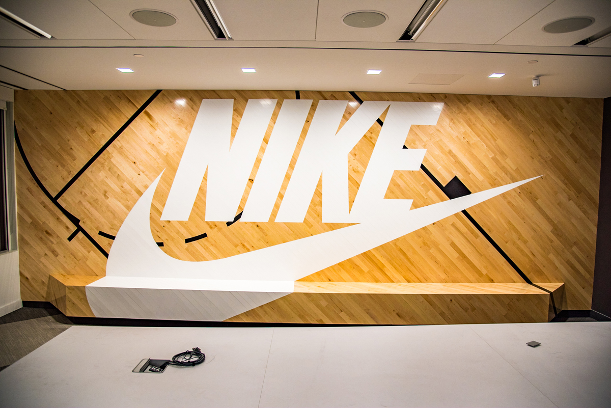 Nike painted logo