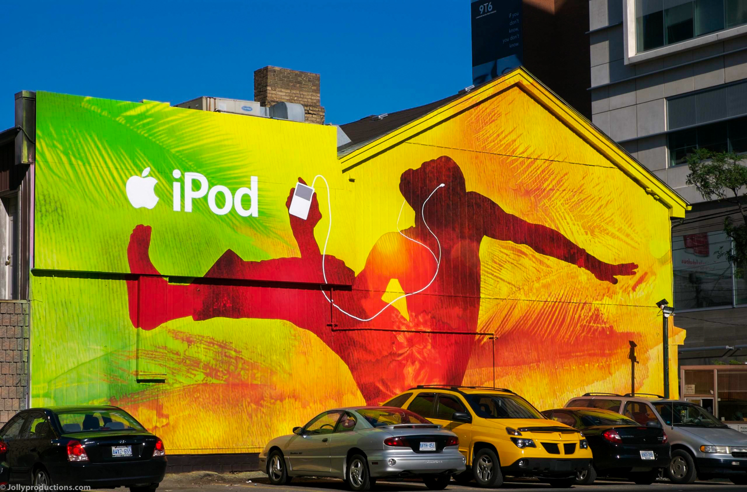 Painted iPod mural