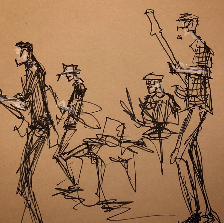 Sketch of Purusa at The Crocodile Seattle by @drawitinone