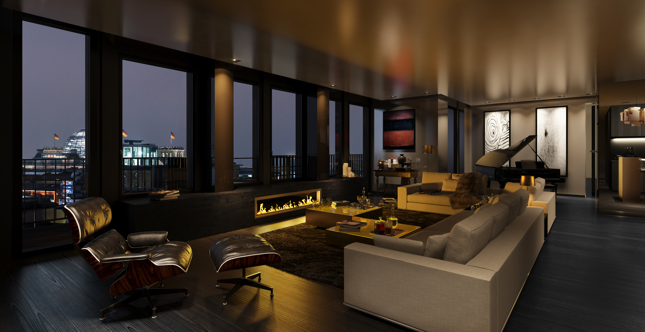 yoo Berlin Penthouse, photo courtesy of Zabel Property Group