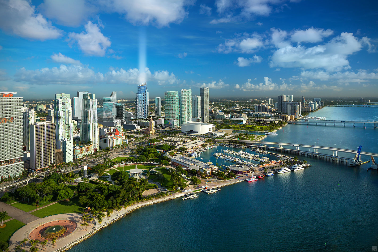 Artist renderings of the Paramount Miami Worldcenter,a new residential complex development due for completion by 2018
