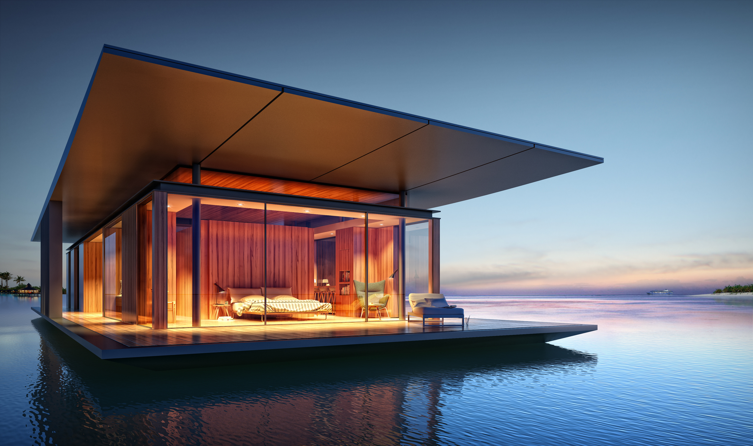 Floating House concept by Dymitr Malcew