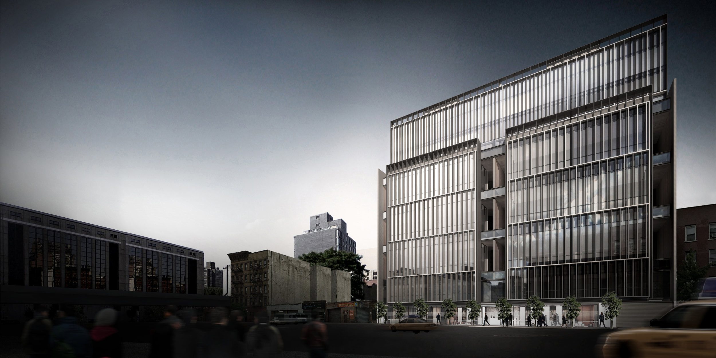 Rendering of the building facade at Soori High Line