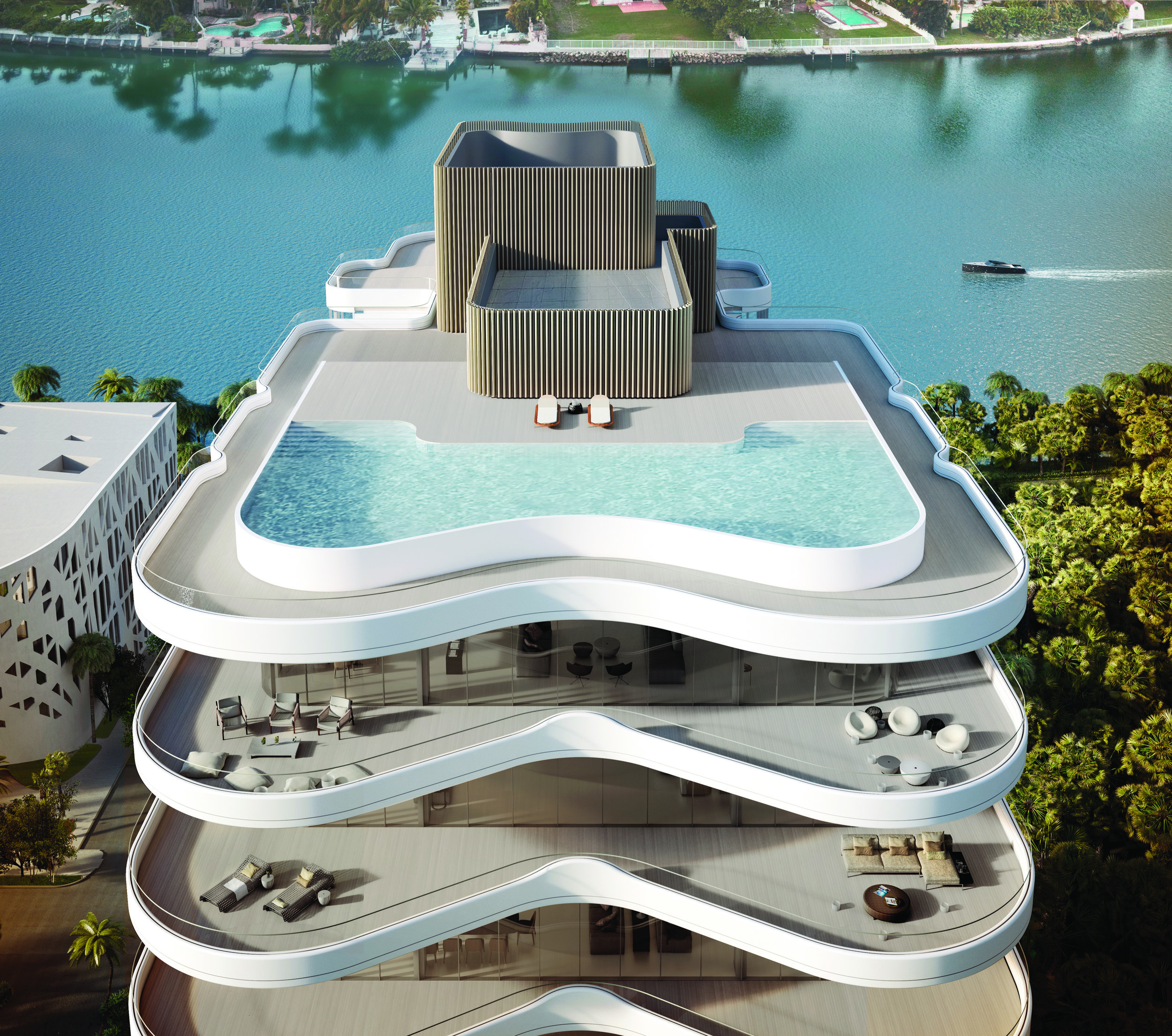 Faena Mar re-establishes the symmetrical purity of the historic Versailles Hotel