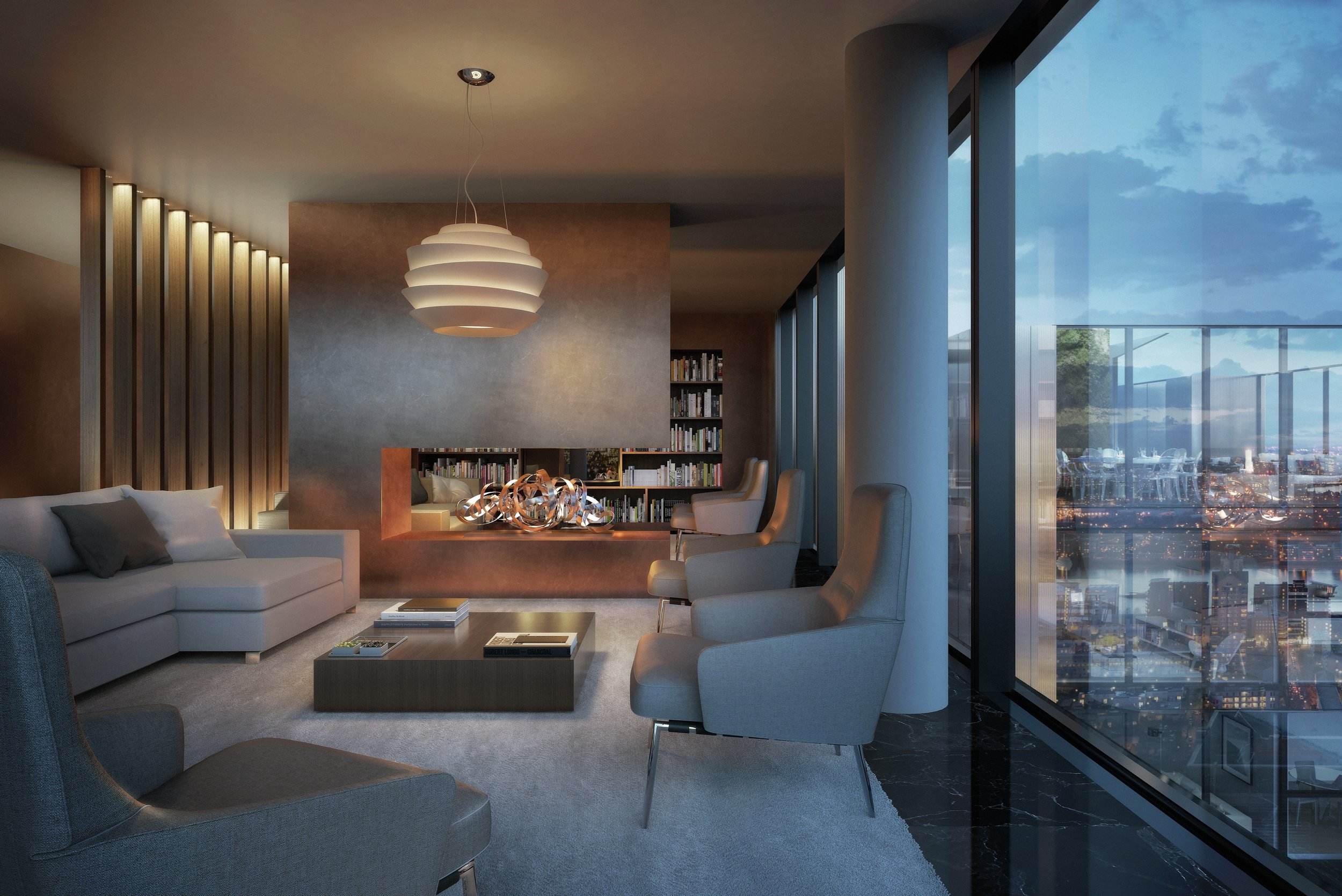 South Quay Plaza residents lounge