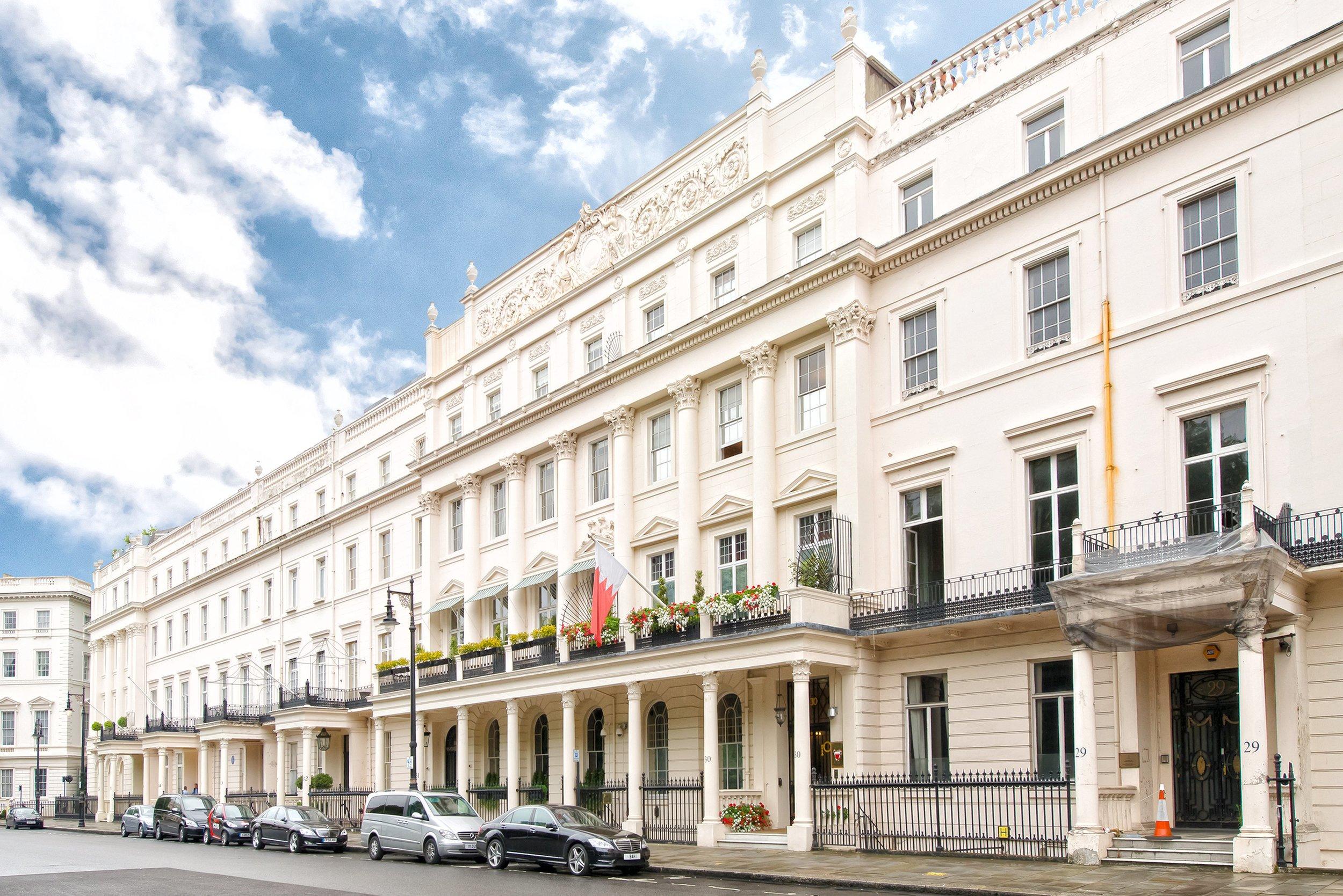 Belgrave Square in London's upscale Belgravia district