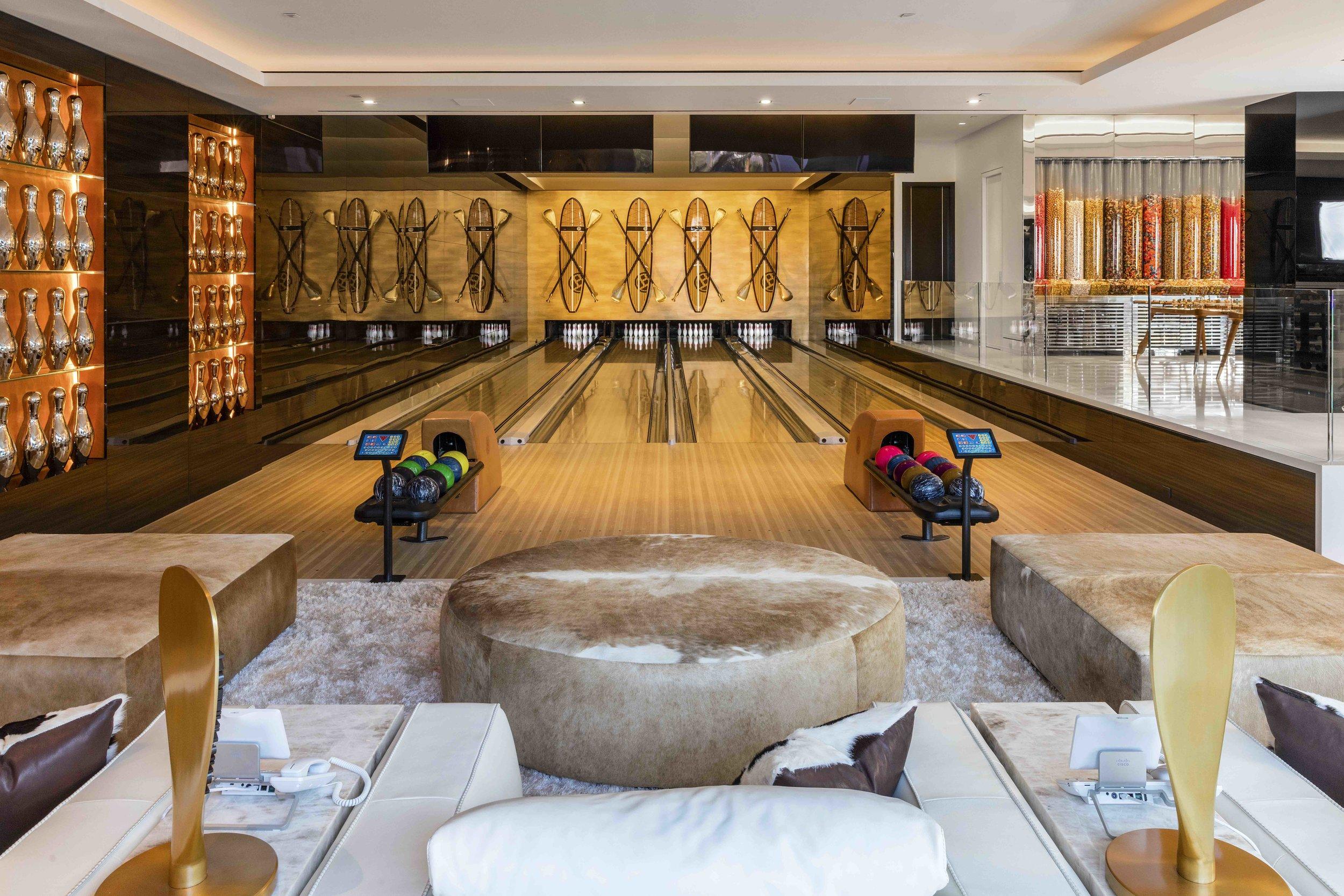 "Mr. Makowsky describes the bowling alley as ""Louis Vuitton meets L.A."""