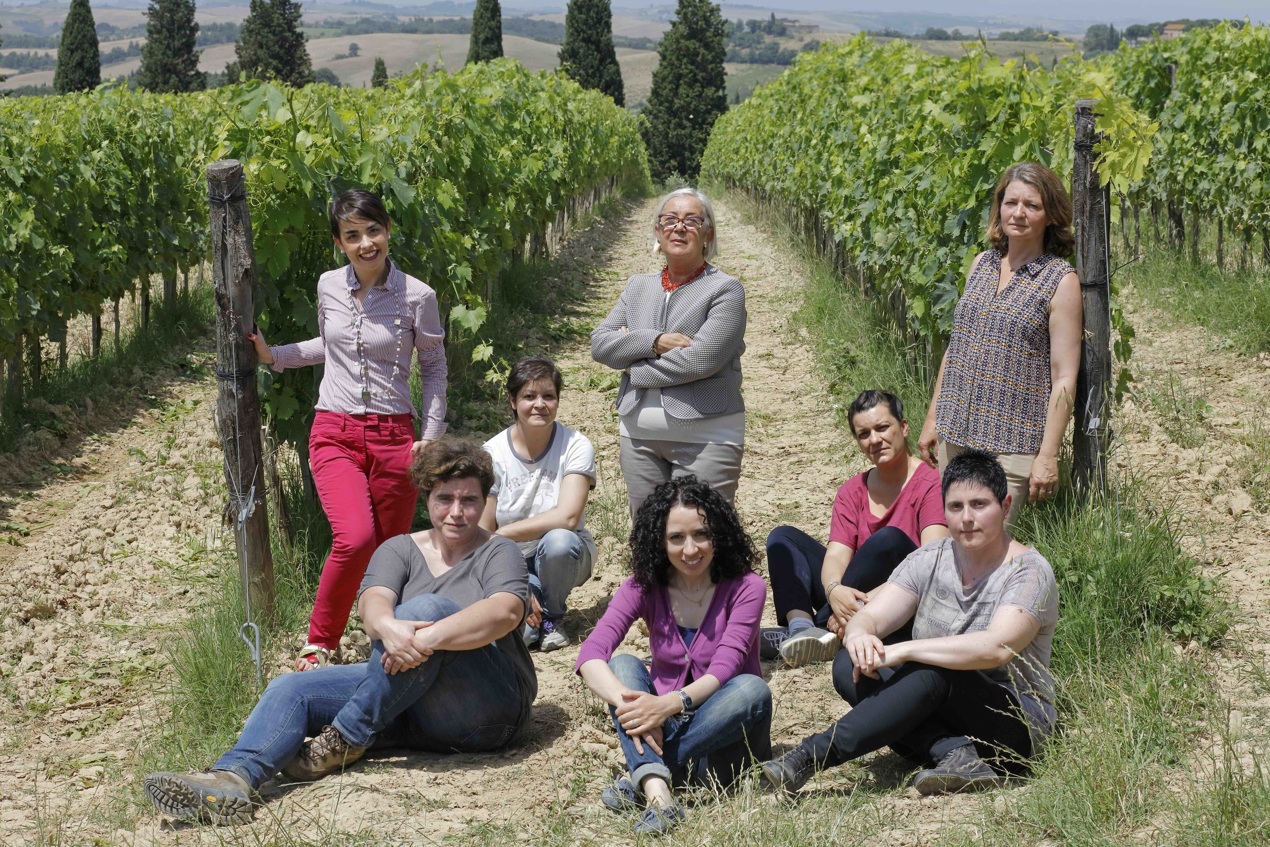 Donatella Cinelli Colombini (center) opened Italy's first all-women winery