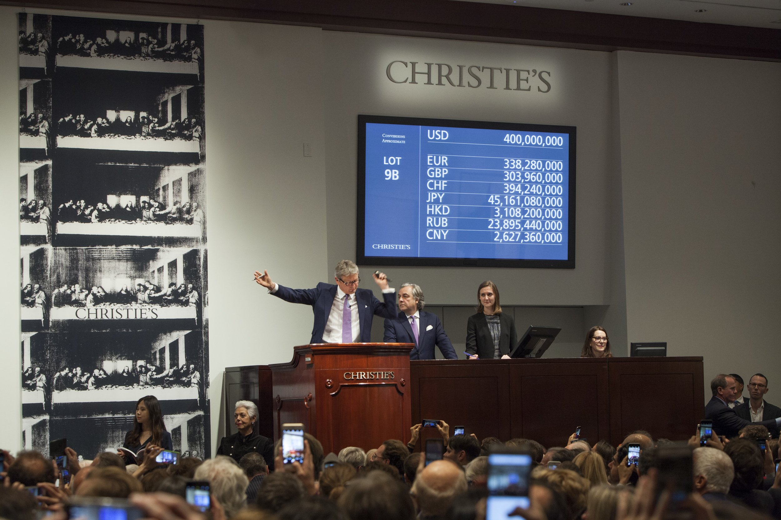 Christie's auction house in New York, photo courtesy of Christie's