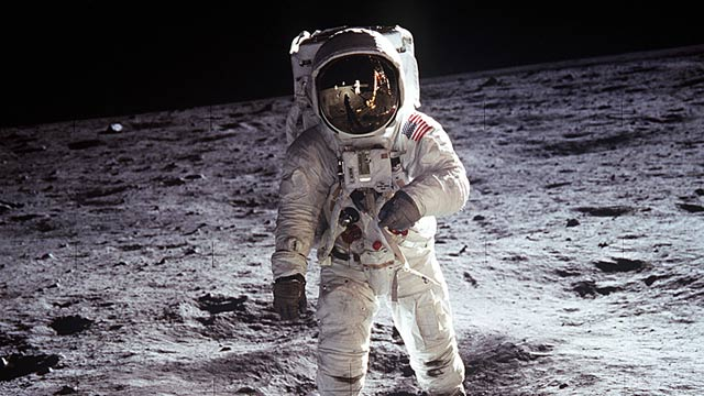 Image Description:   Astronaut Buzz Aldrin on the  moon .  Image Source:  Wikipedia Commons