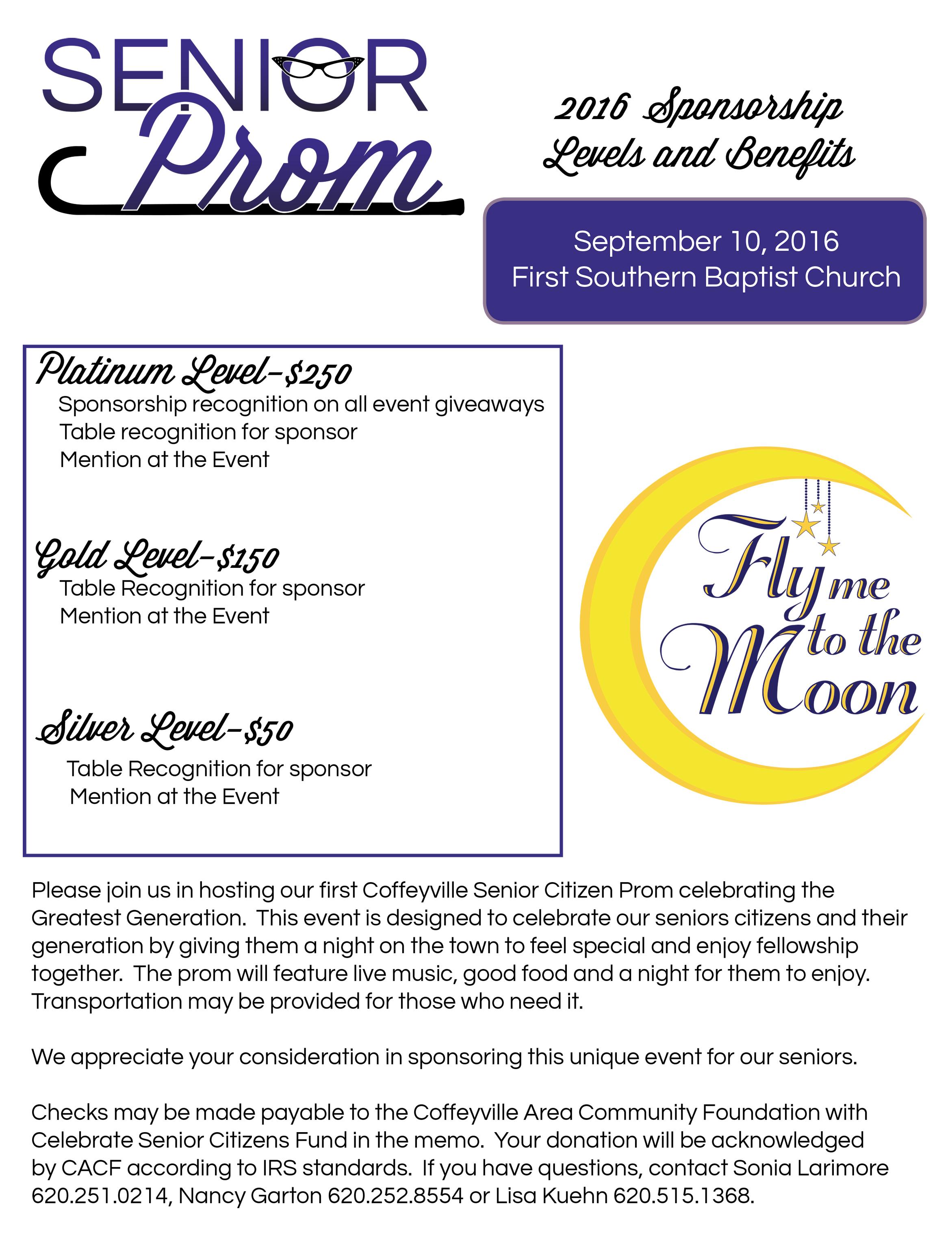 Senior Prom Sponsorship Flyer