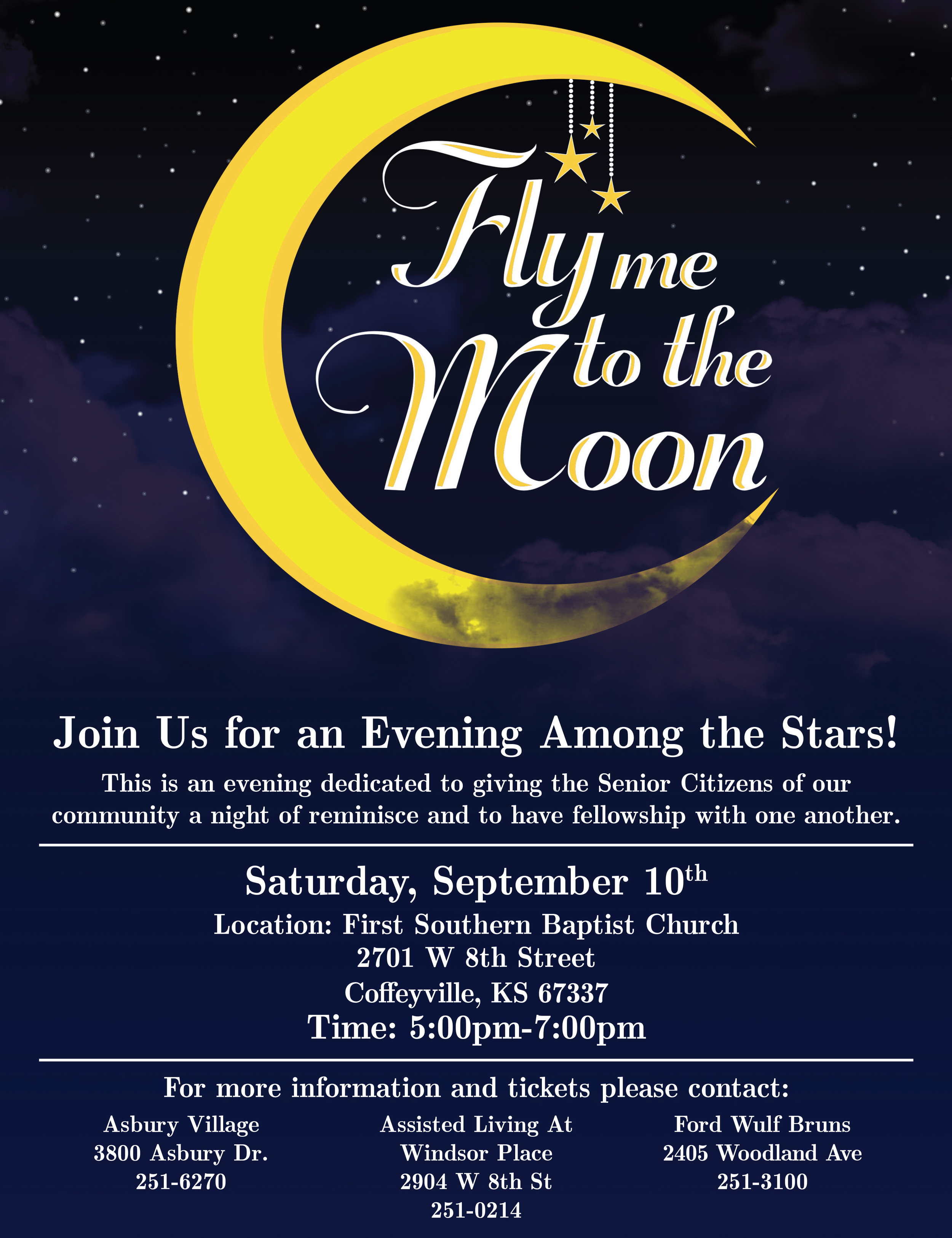 Fly Me to the Moon event Poster