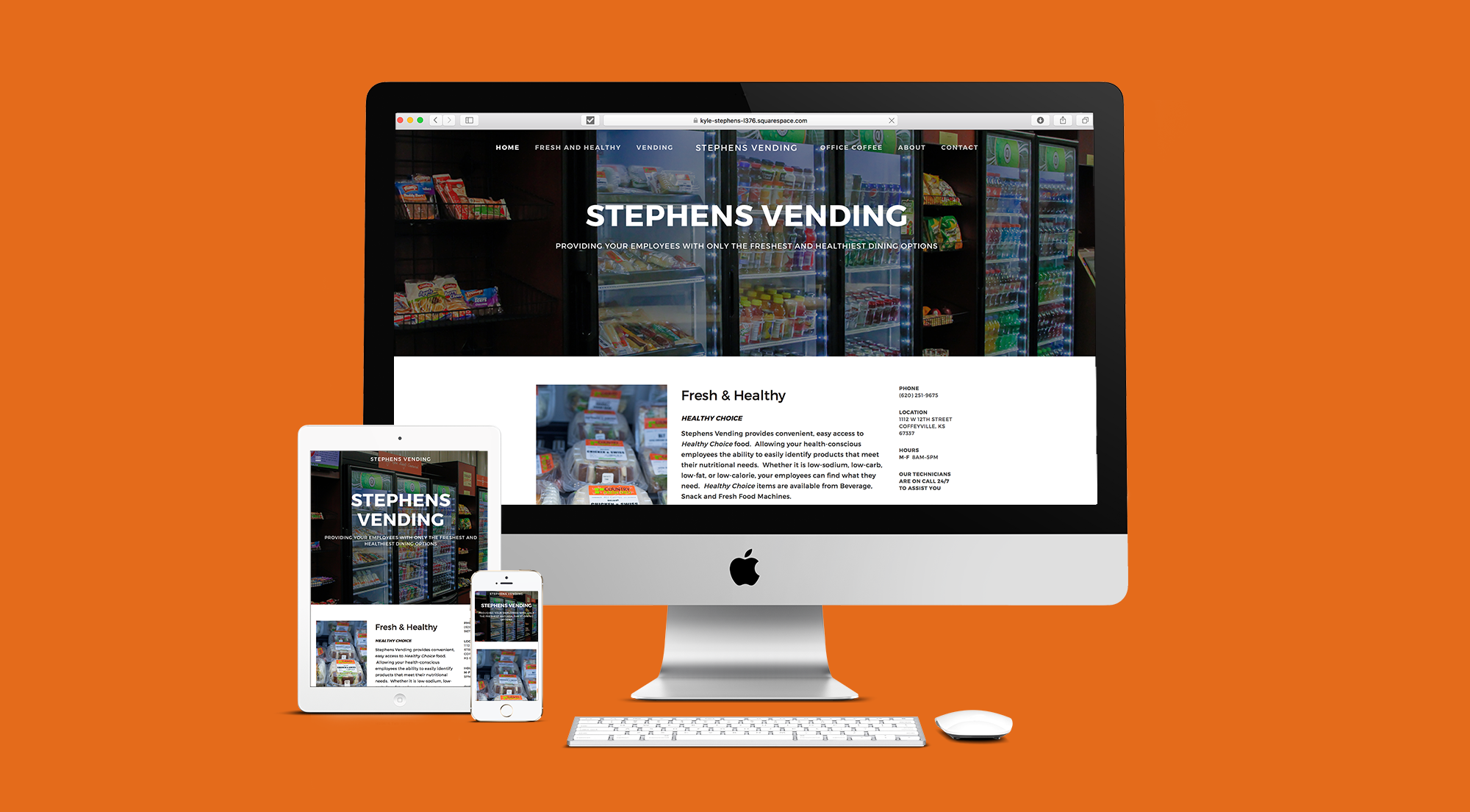 Website design that showcases a business with great stock photography and visual images.