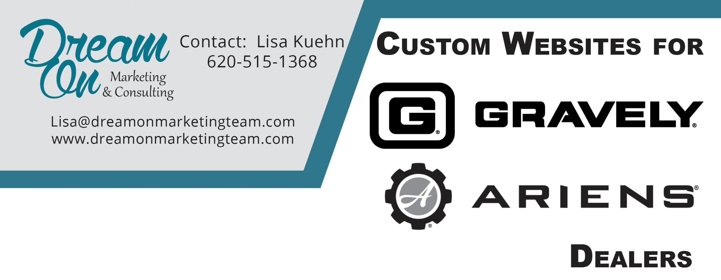 Gravely and Ariens Custom Websites