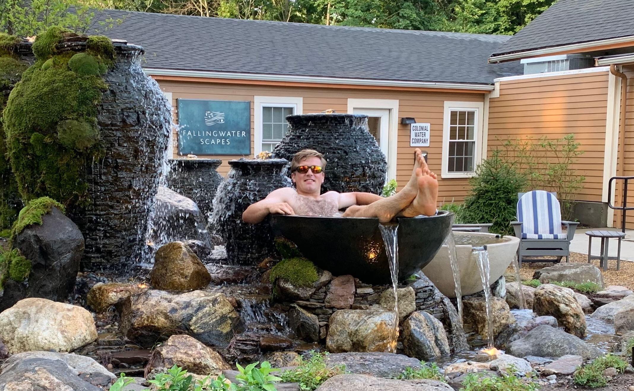 About Fallingwater Scapes Landscape Design Construction Water Feature Designer Builder Certified Aquascape Contractor In Boston Massachusetts Koi Pond Builders Massachusetts Outdoor Water Garden Backyard