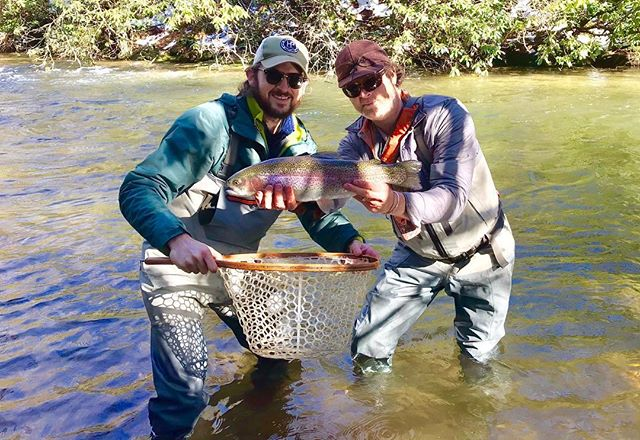 hooked a hoss this wknd    hats off to the best guide in wnc